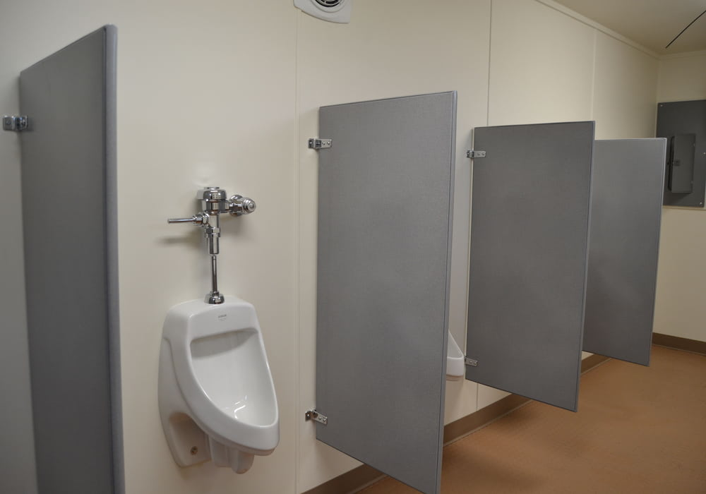 Single gender restroom interior