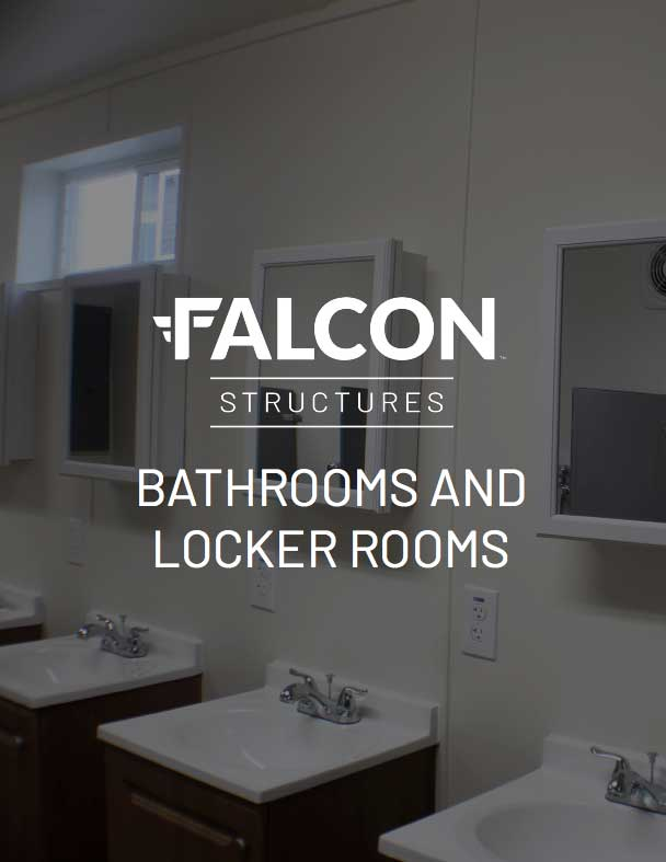 Cover for shipping container bathroom and locker room catalog