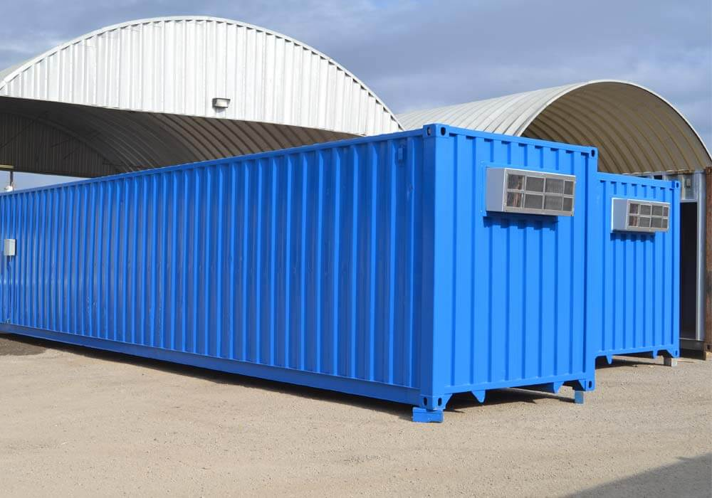 Outside of 40-foot climate controlled storage container
