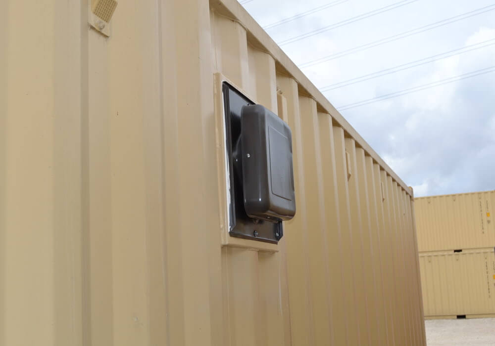 Close up of vented container