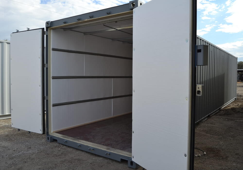 Exterior of 40 ft file room container