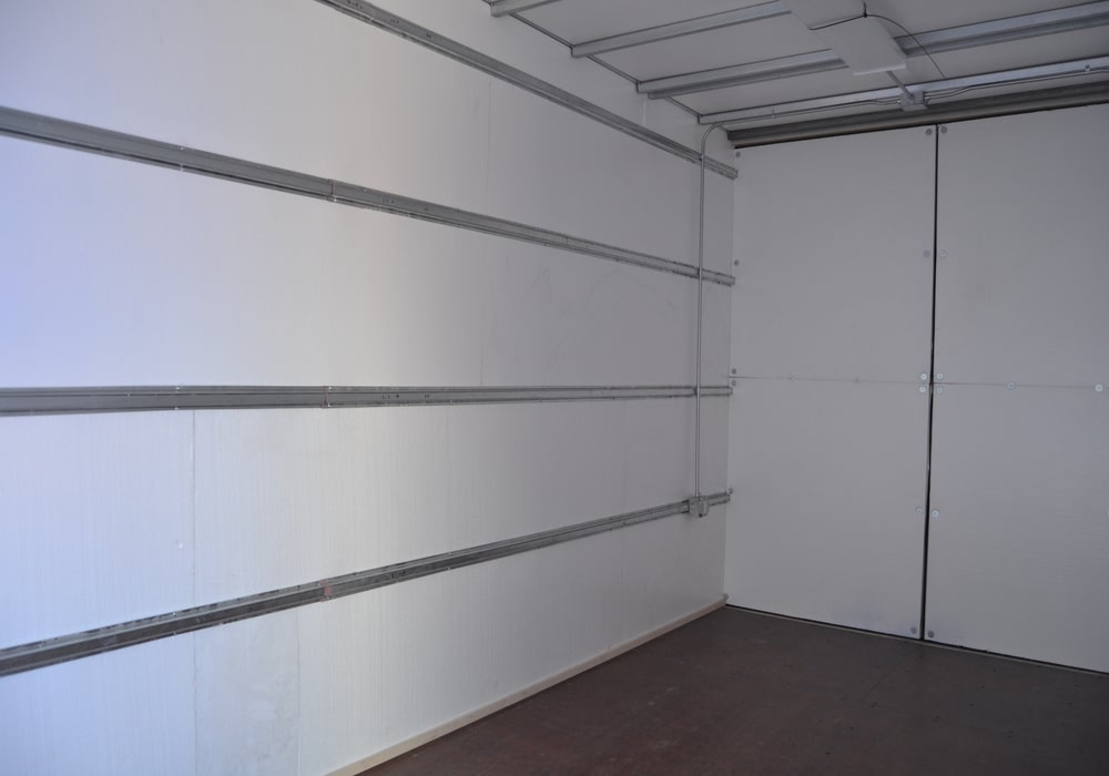 Interior storage container file room