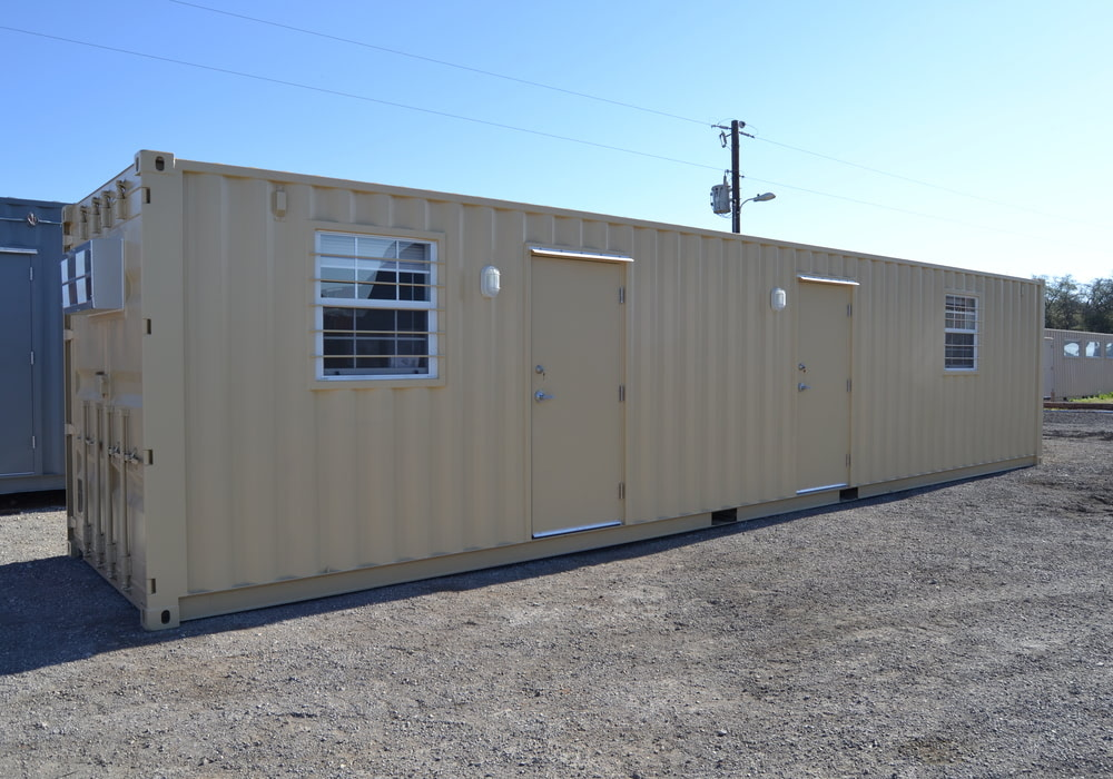 Exterior of 40 ft dual office