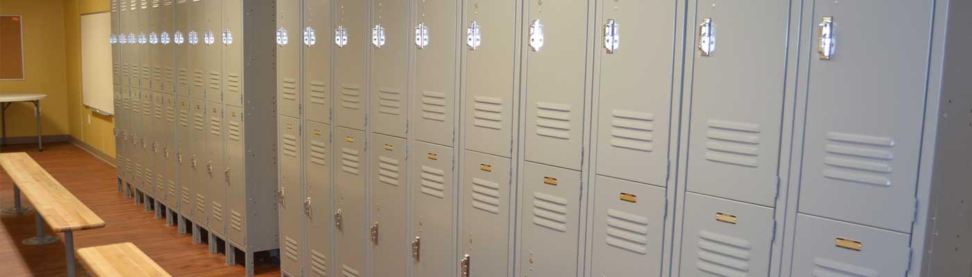 Locker room storage container