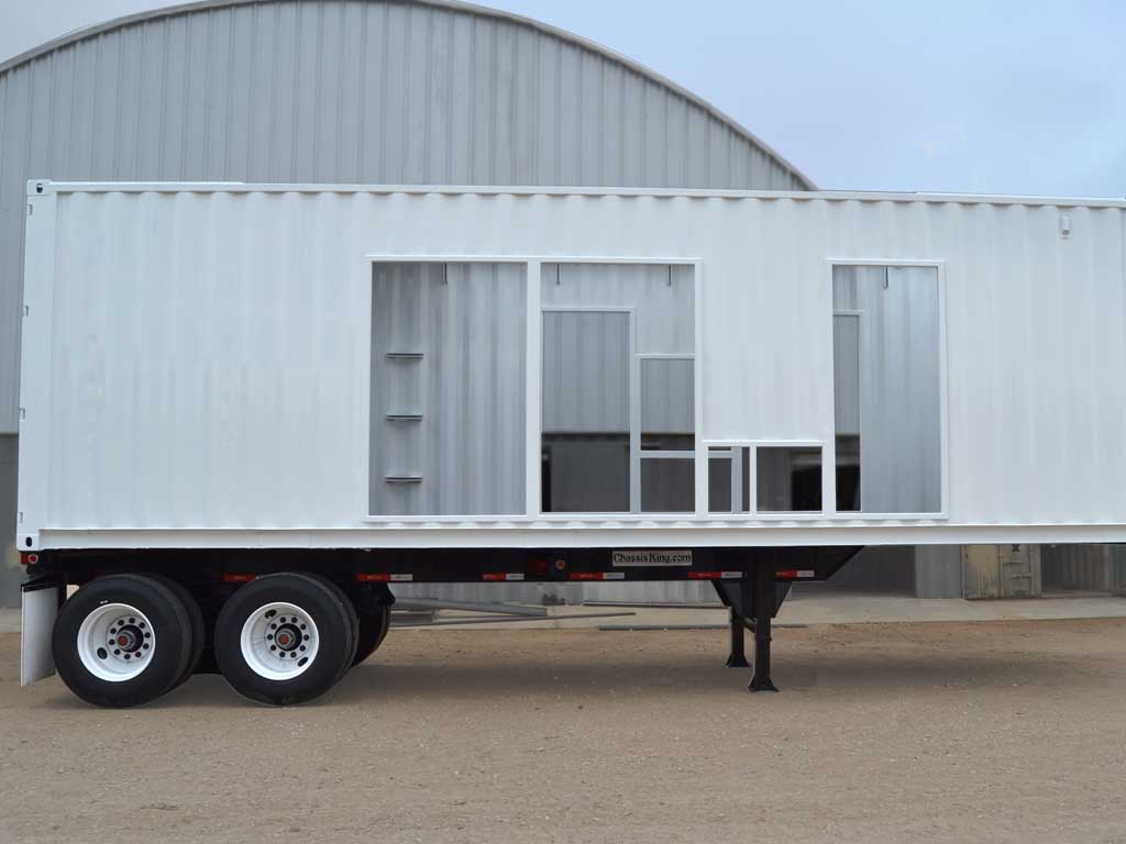 Generator enclosure on trailer