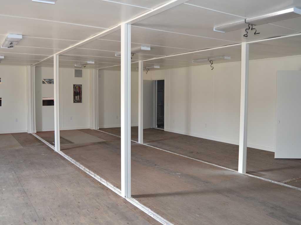 Multi-container building interior