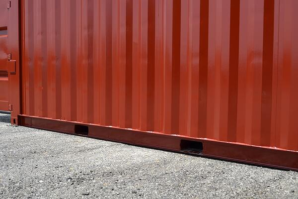 Shipping Container Forklift Pockets