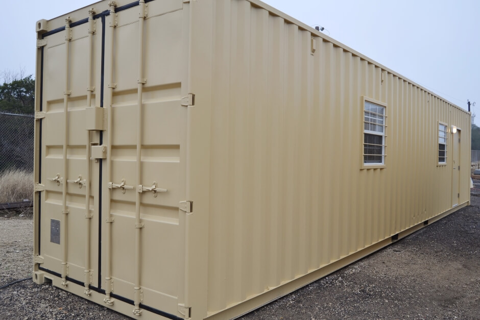 Construction Trailers Made from Shipping Containers