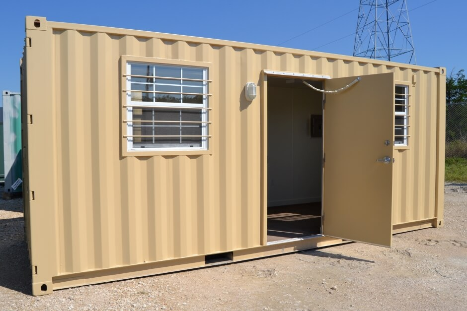 repurposed shipping container office