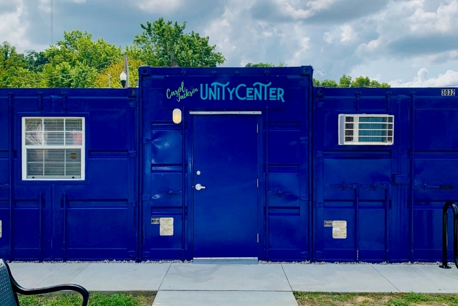 shipping container community center