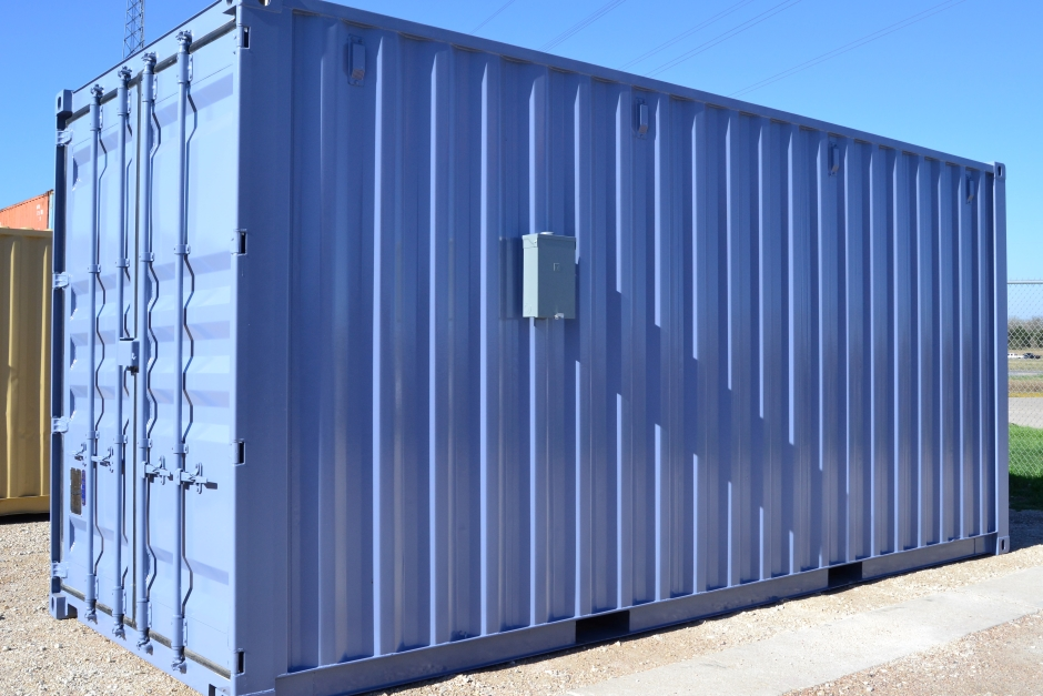 blue-high-cube-shipping-container
