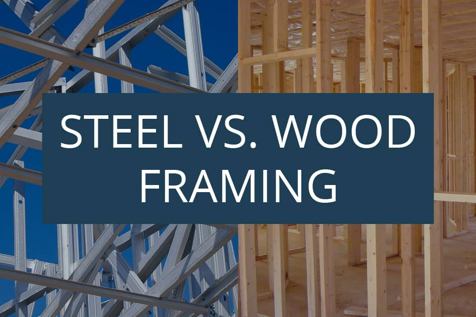 steel and wood building frame structures