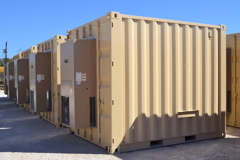 10 foot shipping container RTU monitoring units