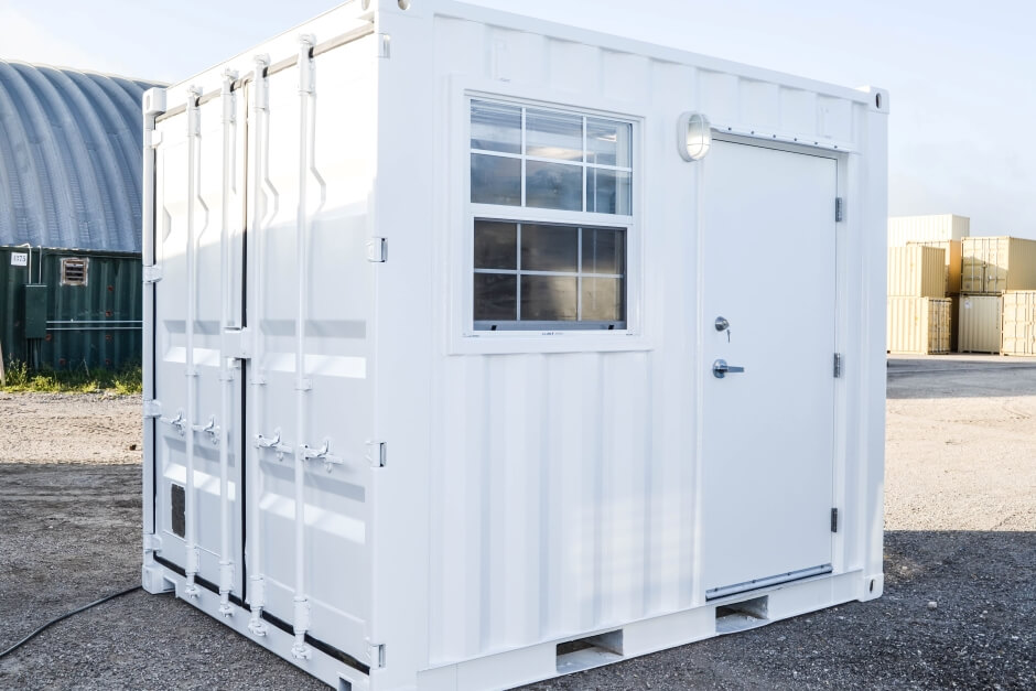10ft shipping container open office