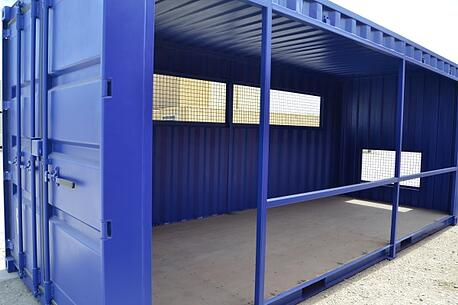 Shipping Container Baseball Dugout Front