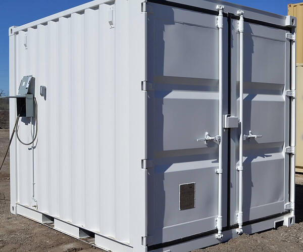 10-foot shipping container motor control center enclosure