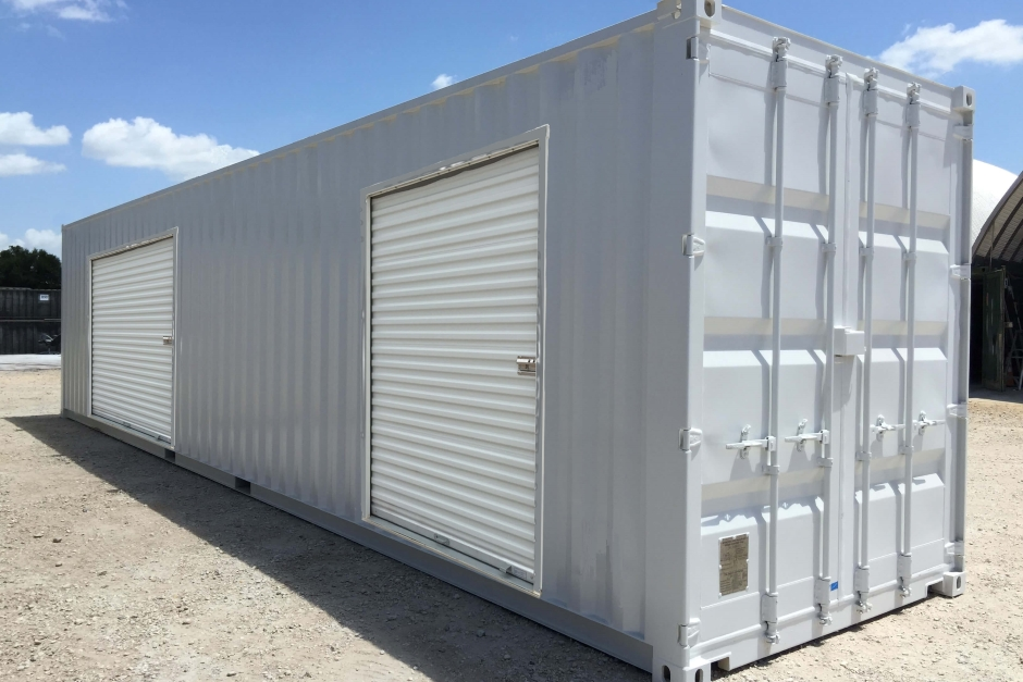 shipping container secure storage for construction sites