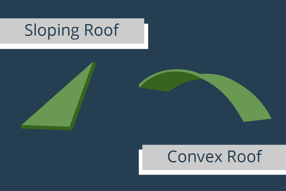 sloping-roof-vs-convex-roof