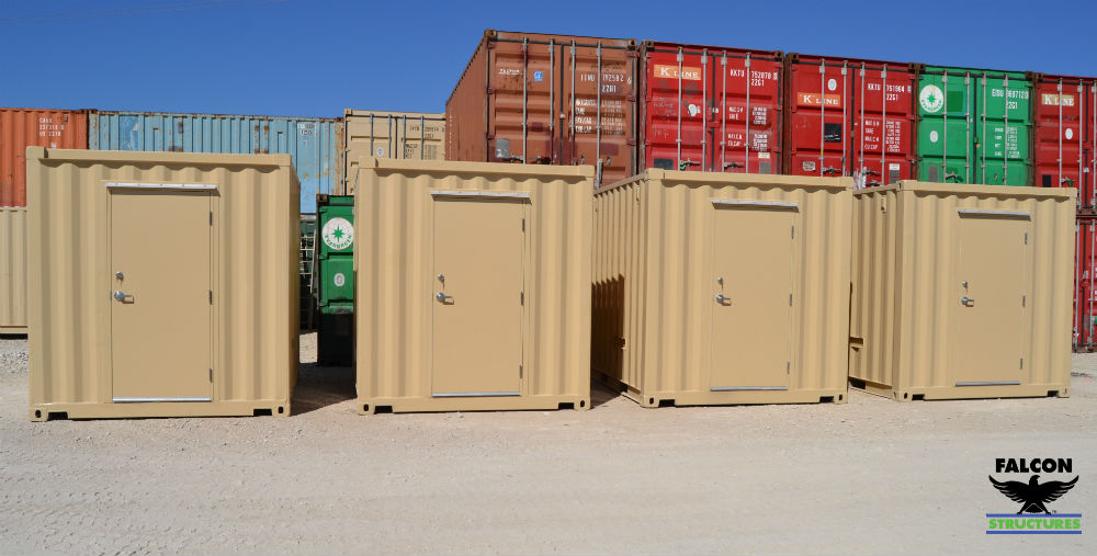 Shipping containers modified into RTU equipment enclosures