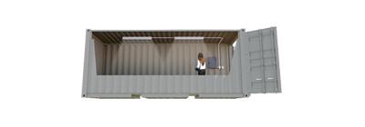 20ft Lighted Storage Container FS-P-20LB-ST