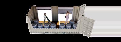 20ft Overhead Door Storage Container FS-P-20OH-ST