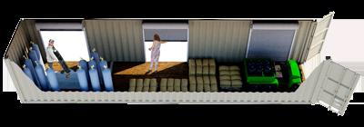 40ft Overhead Door Storage Container FS-P-40OH-ST