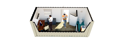 20ft Open Office Premium with Half Bath FS-P-20FO-PR