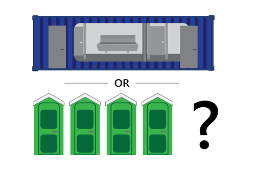 Learn whether a shipping container restroom building or porta potties are right for you.