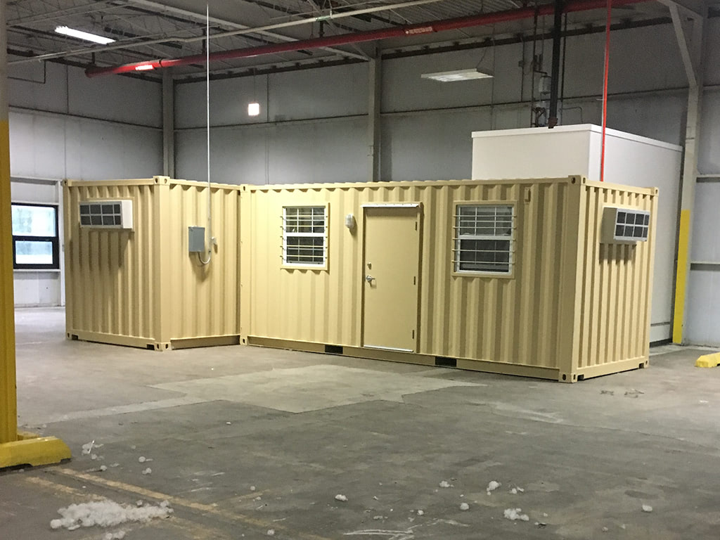 Climate controlled warehouse container
