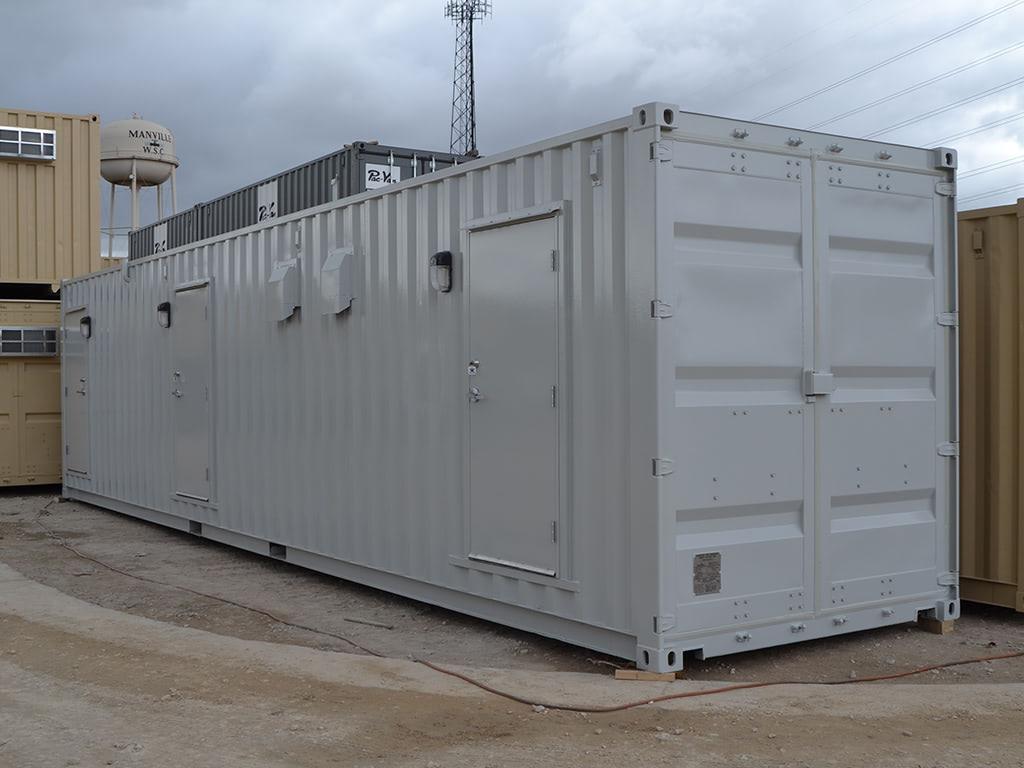 Locker room container exterior