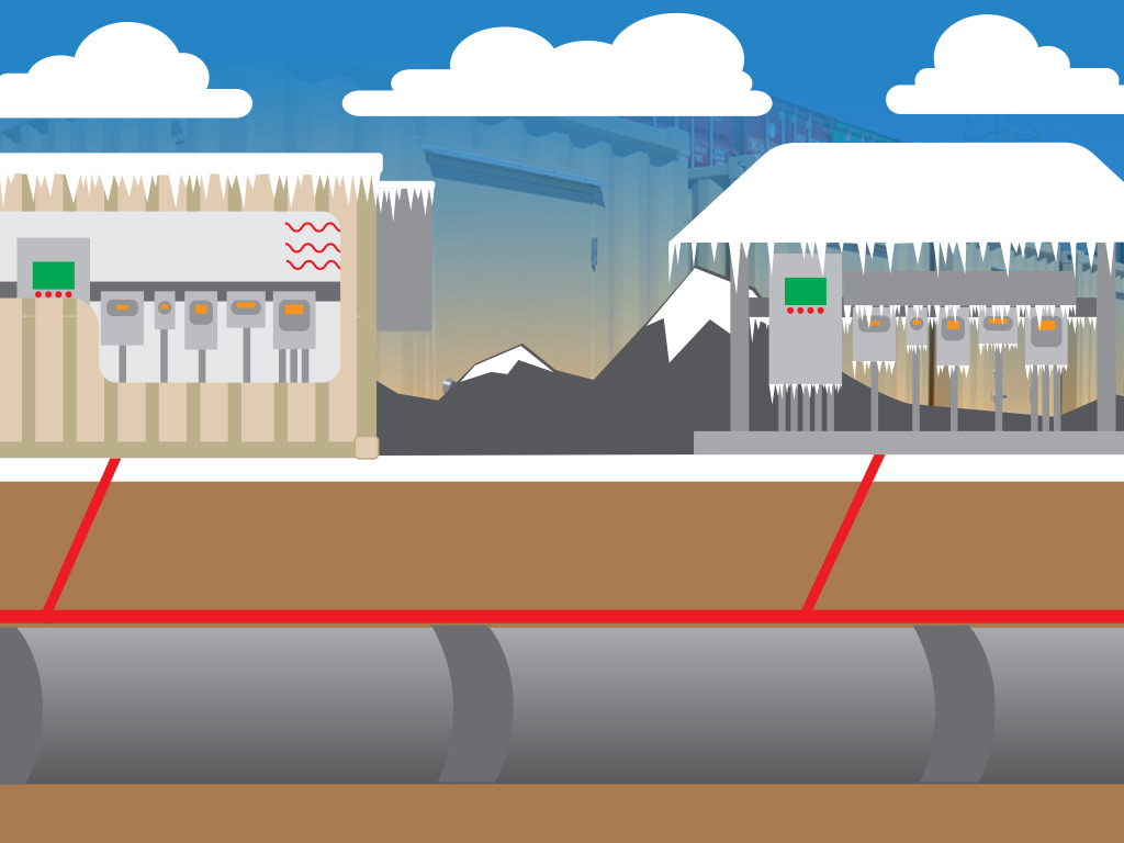 Pipeline monitoring graphic