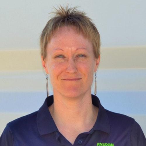 Lisa McDonald, Falcon Structures' Controller