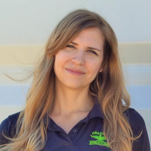 Sarah Ellis, Falcon Structures' Head of Product Design