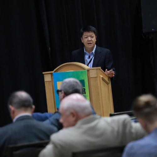 Stephen Shang speaking at 2018 World of Modular