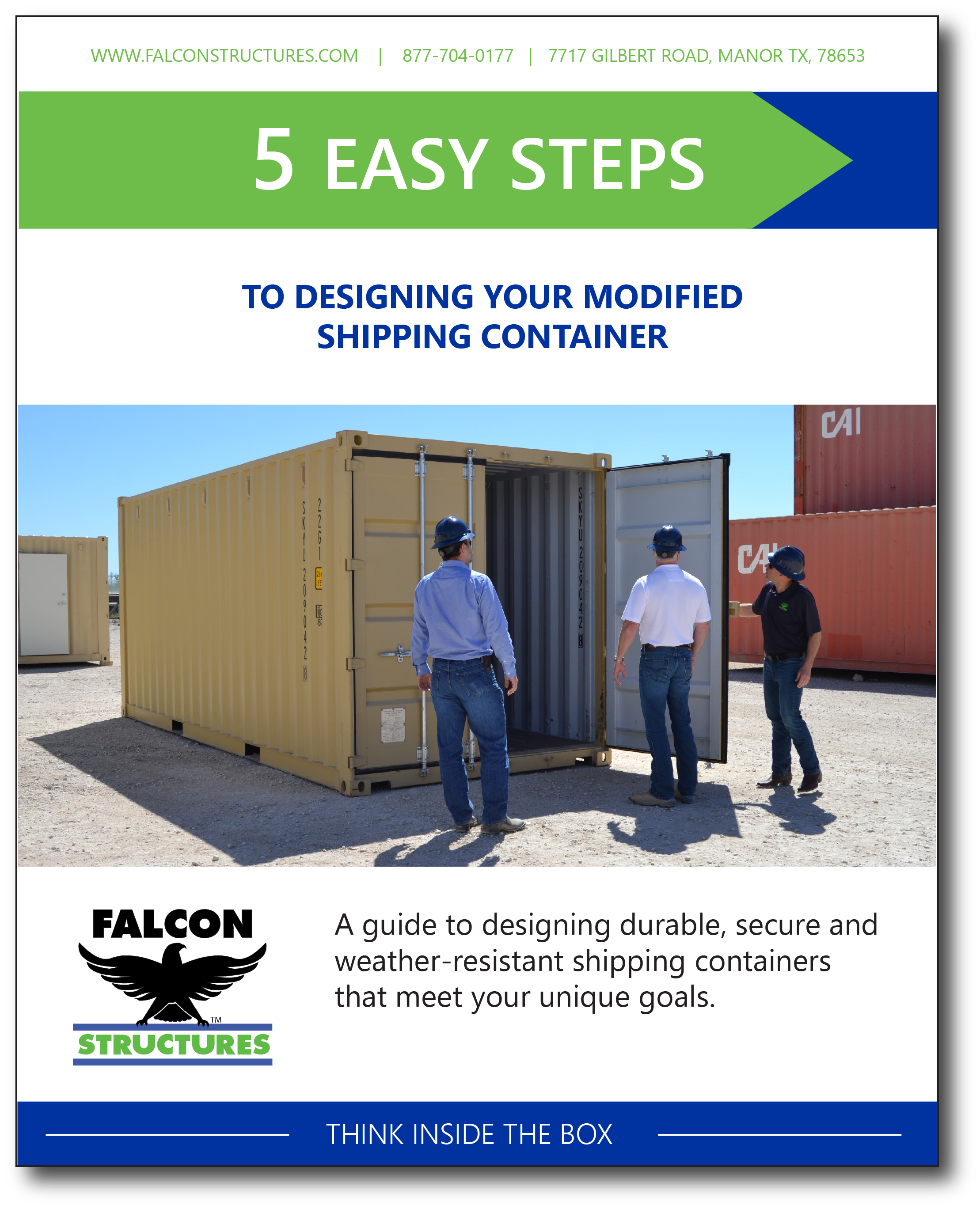 "Download the guide, ""5 Easy Step to Designing your Modified Shipping Container."""