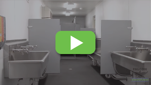 View video to tour our portable container bathrooms.