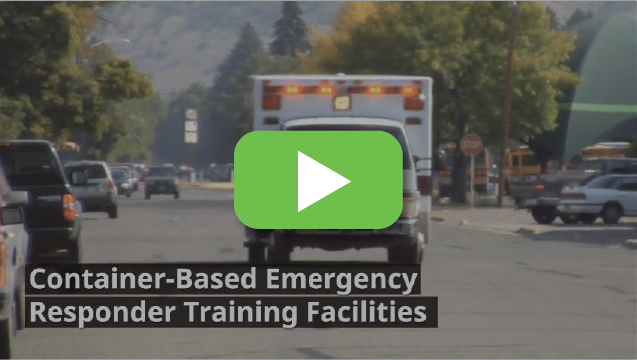 View video to learn how first responders train in portable container buildings.