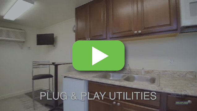 View video to tour our portable living container.