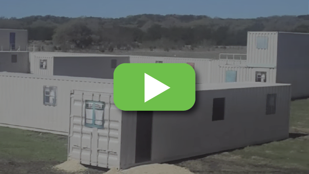 View video to tour the U.S. Military's use of portable container buildings.