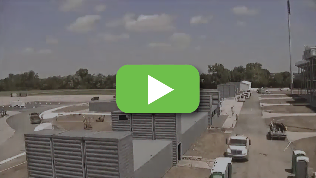 View video to watch a container stadium get constructed at warp speed.
