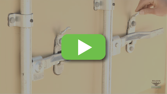 View video to learn how to open shipping container doors.