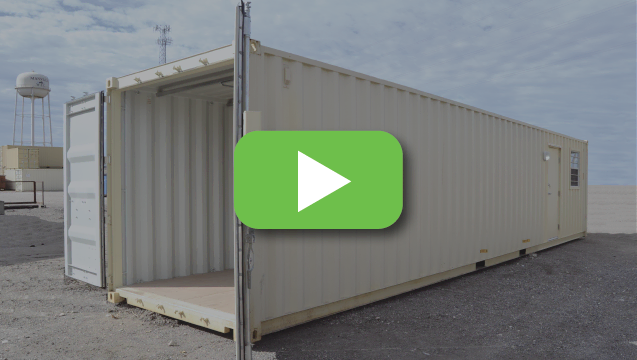Watch a tour of an office/storage combo container.
