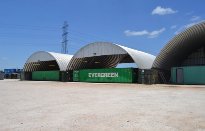 Falcon Structures modifies its shipping containers in house in our manufacturing facility.