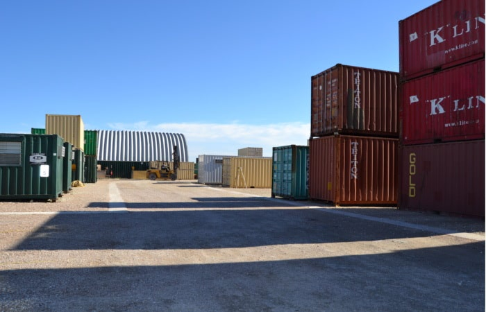 Falcon Structures modifies shipping containers also known as Conex boxes into structures.