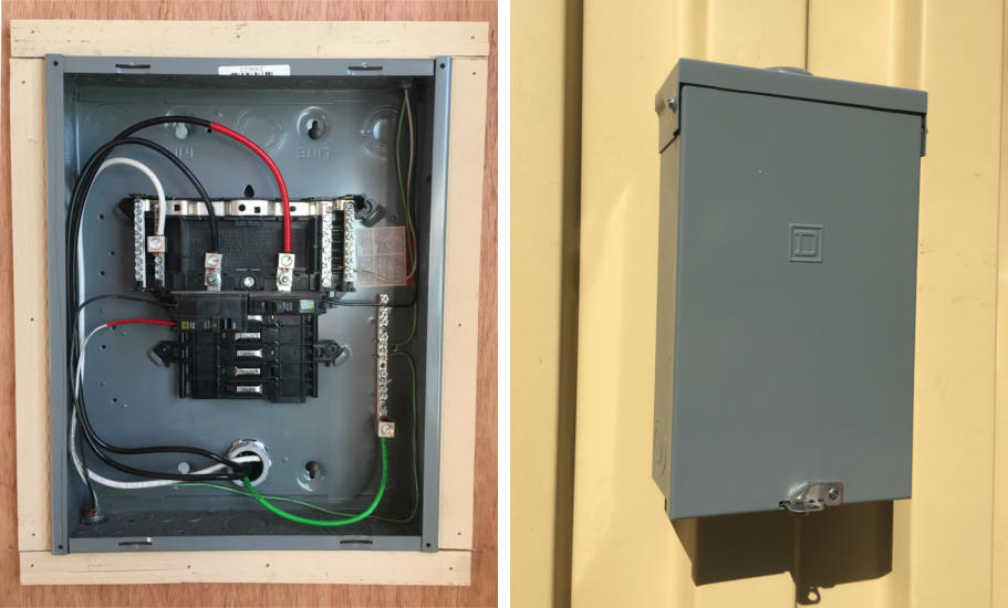 Examples of a Type1 and Type 3R NEMA electrical enclosure.