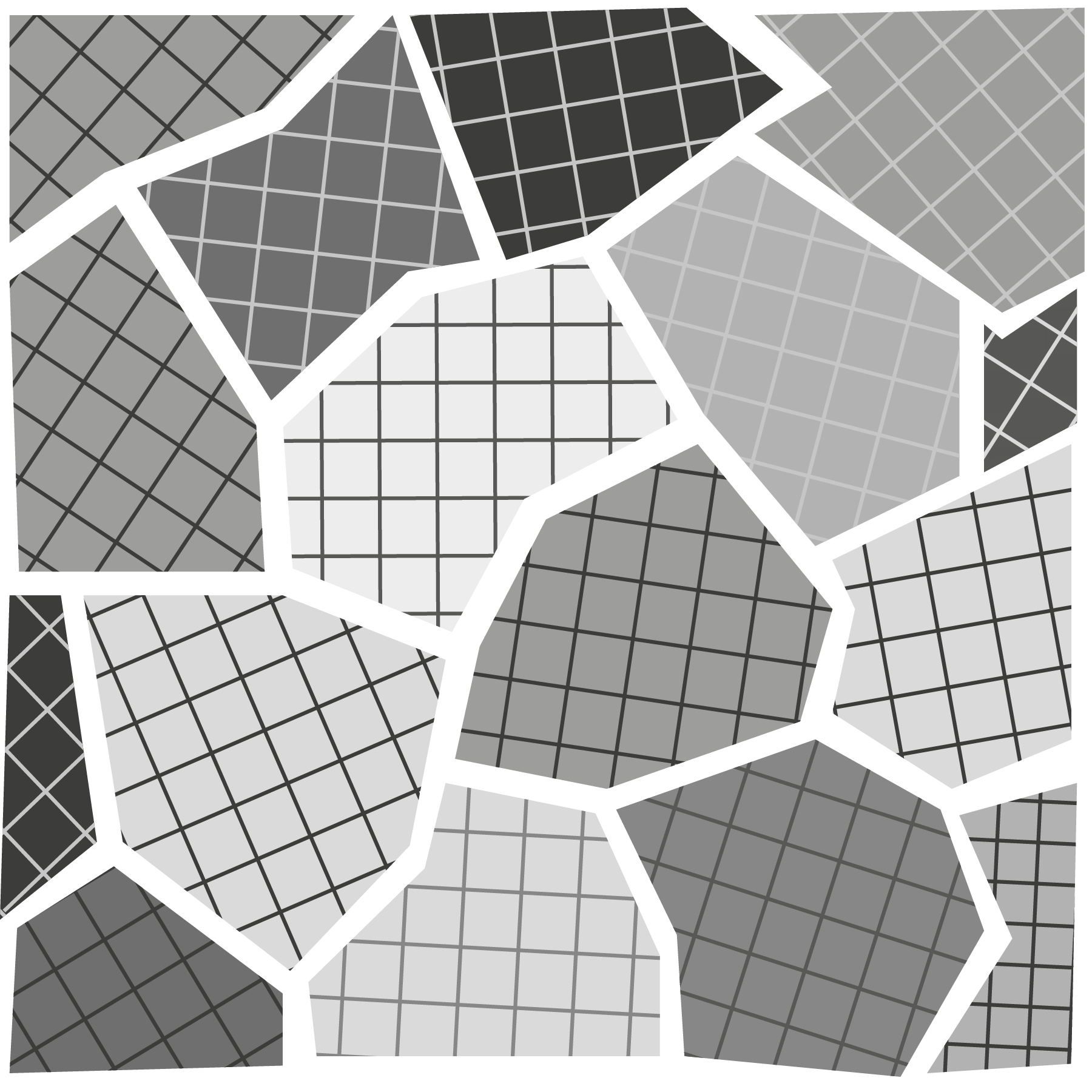 Above is an artistic representation of the atomic structure of steel. The white spaces at the borders of these grains are called grain boundaries.