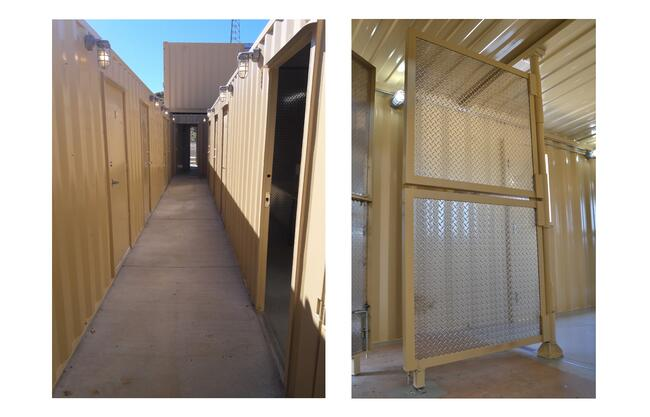 Hallways and rotating doors create a realistic training experience for first responders.