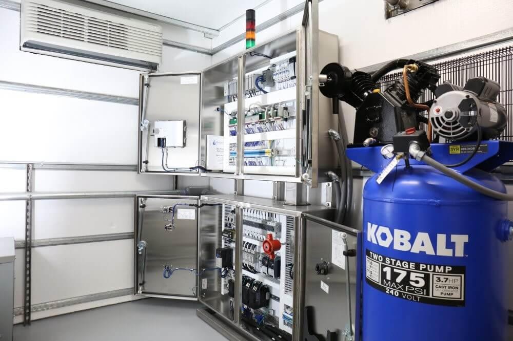 Generator equipment inside of container
