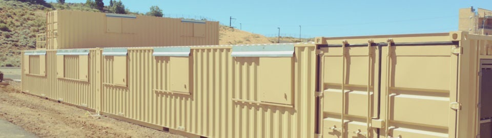 A first responder training facility made from shipping container structures.